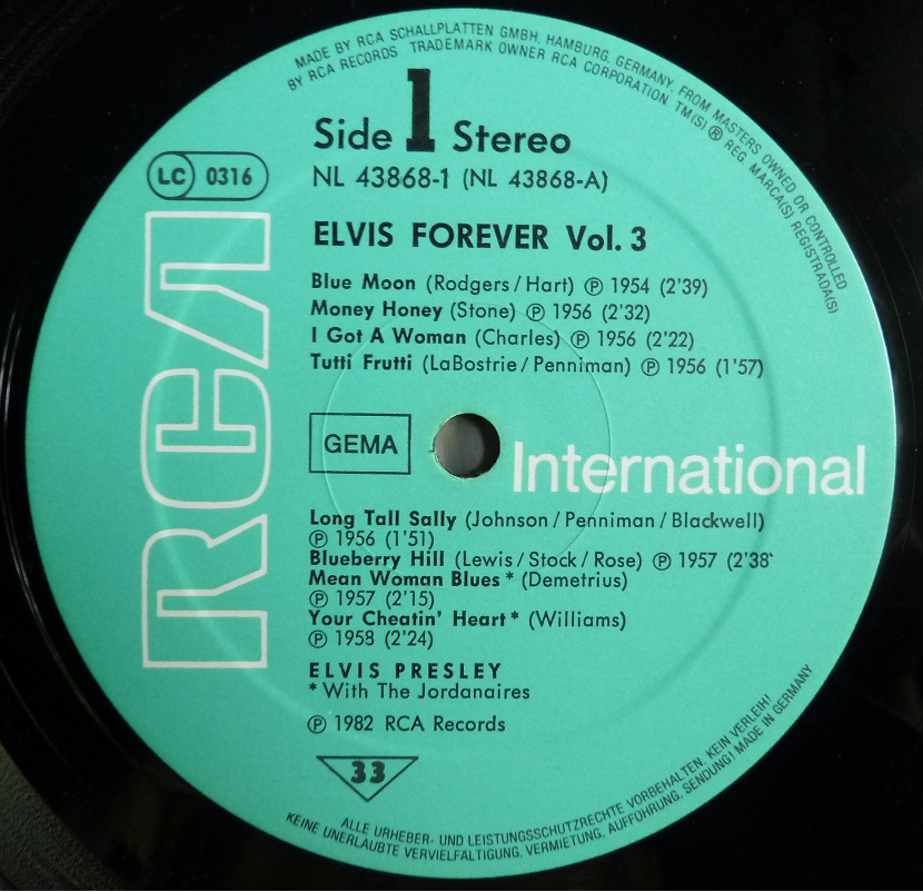 ELVIS FOREVER Vol. 3  Elvisforever382side1muuhj