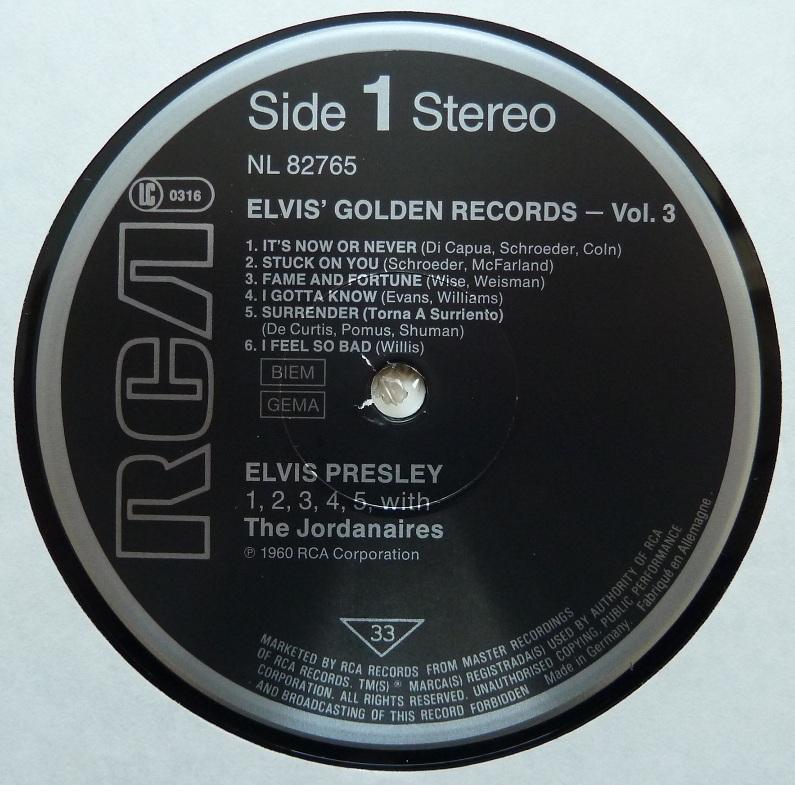 ELVIS' GOLDEN RECORDS VOL. 3 Elvisgoldenrecordsvol41onl