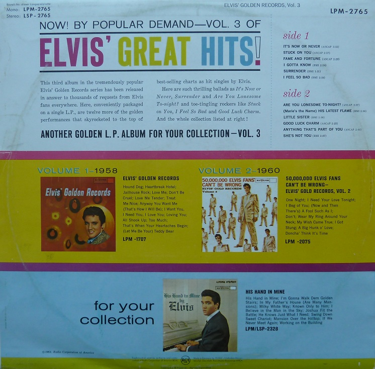 ELVIS' GOLDEN RECORDS VOL. 3 Elvisgoldenrecordsvoltvqvz