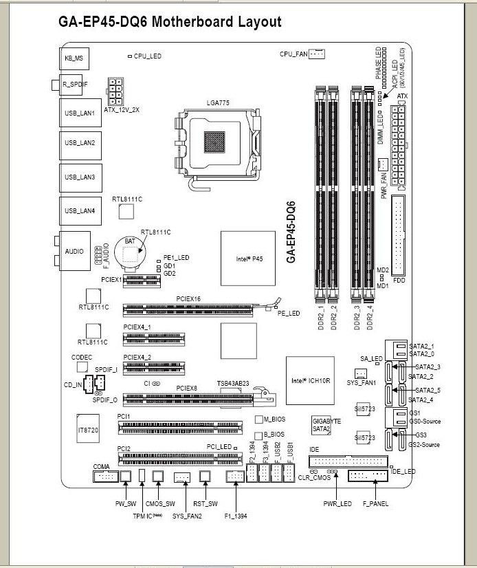 Схема материнской платы asrock h55m-le