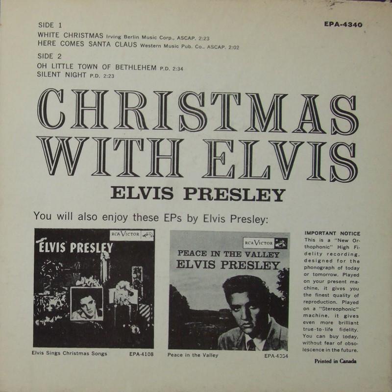 CHRISTMAS WITH ELVIS Epa-4340bhtoey