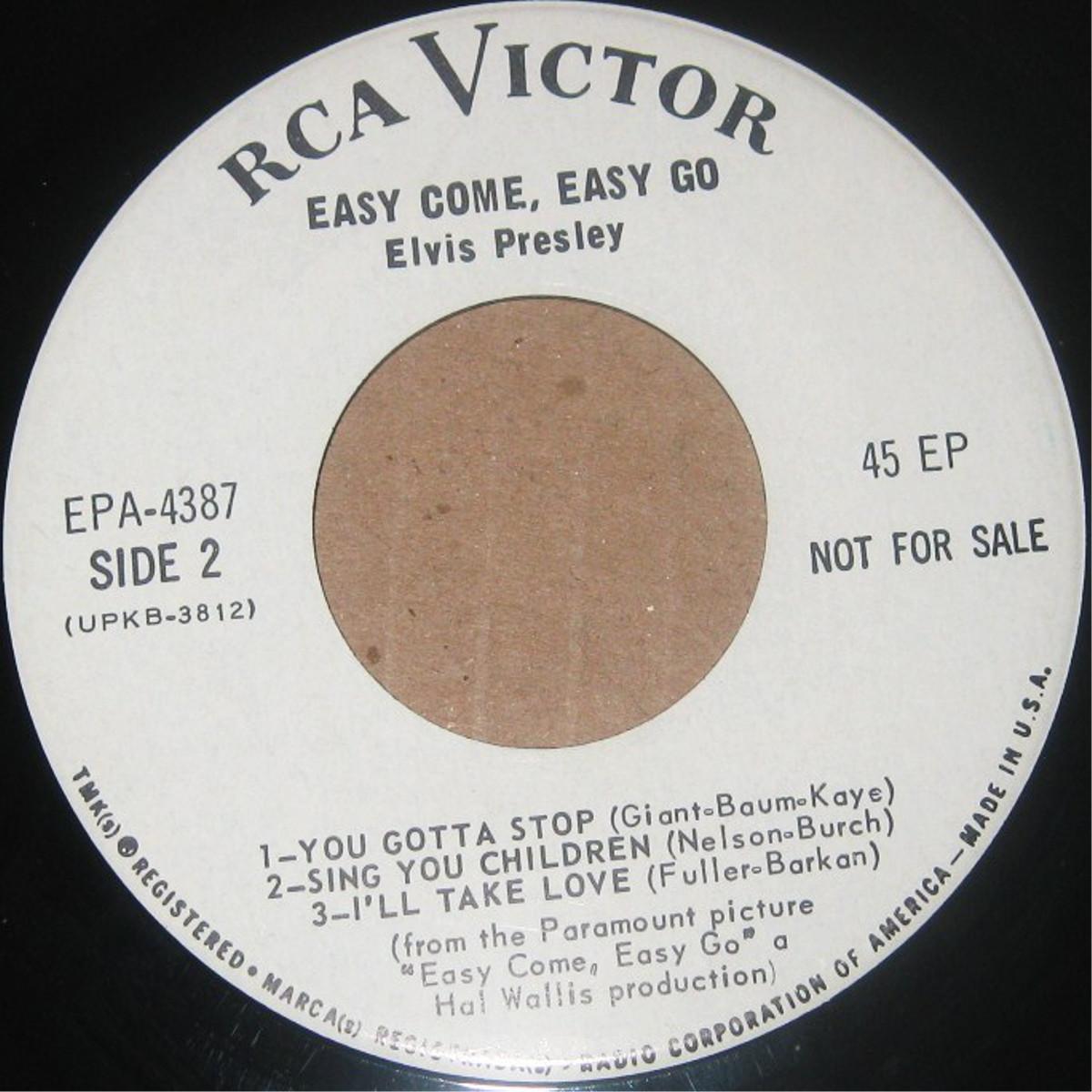EASY COME, EASY GO Epa4387dvqutu