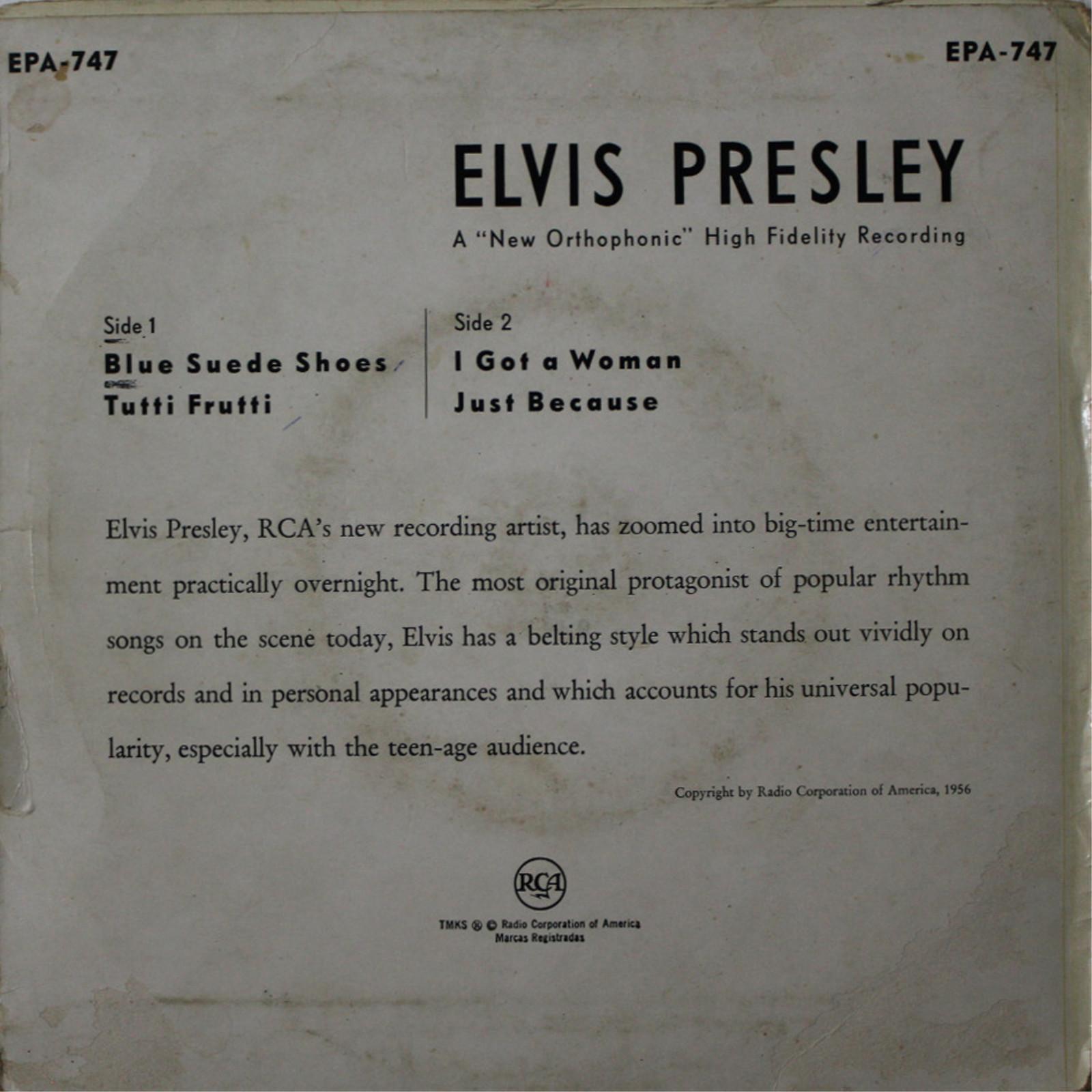 ELVIS PRESLEY Epa747byzjj1