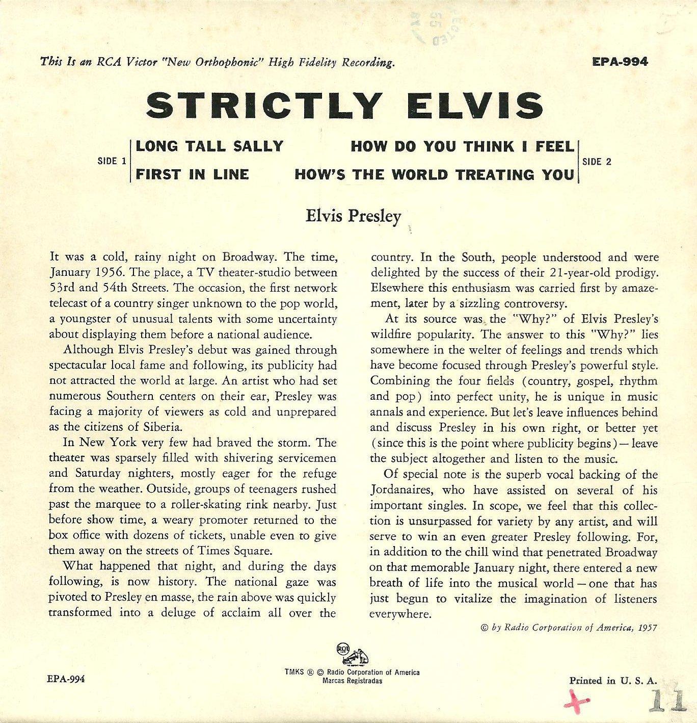 STRICTLY ELVIS Epa994brzzbw