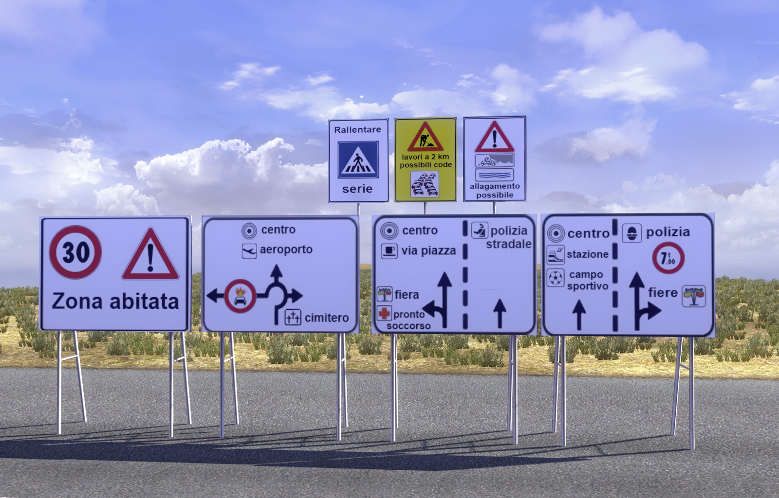 New Models trafficsigns for ETS 2 SCS Software