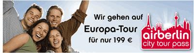 europaoxh5 Air Berlin Angebot: 5 Flüge 199€