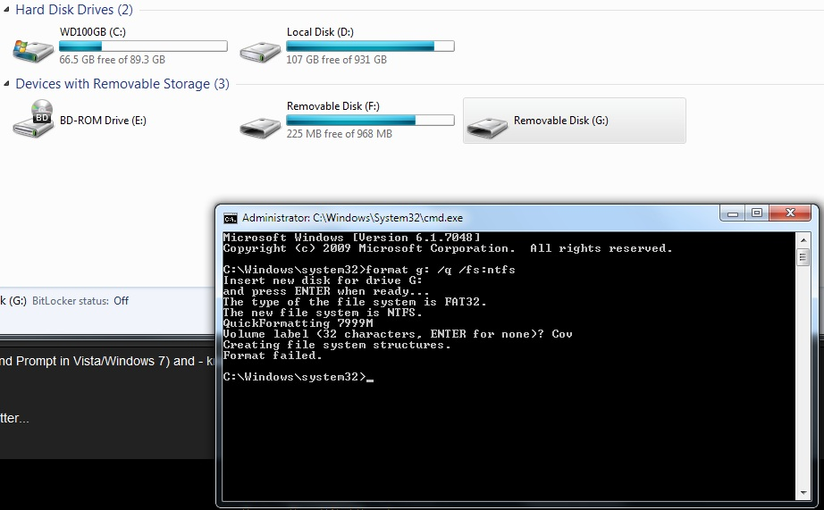 windows 7 download tool bootsect error