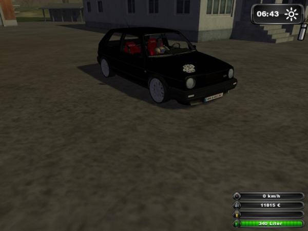 Farmer Car Golf 2 Gti V 2.0 –  Farming Simulator 2013 Mod