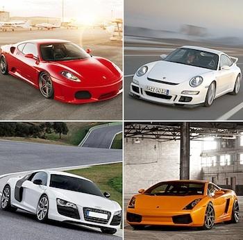 Ferrari, Porsche, Audi R8. Lamborghini fahren