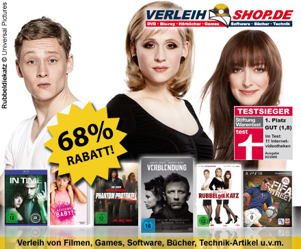 DailyDeal: 40€ Gutschein für verleihshop.de für nur 12,50€ - DVD/Blu-ray/Games Online Videothek! - Neukunden bekommen sogar 34€ Guthaben!