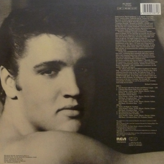 ELVIS: THE FIRST LIVE RECORDINGS Firstlivrecrckseitejdima