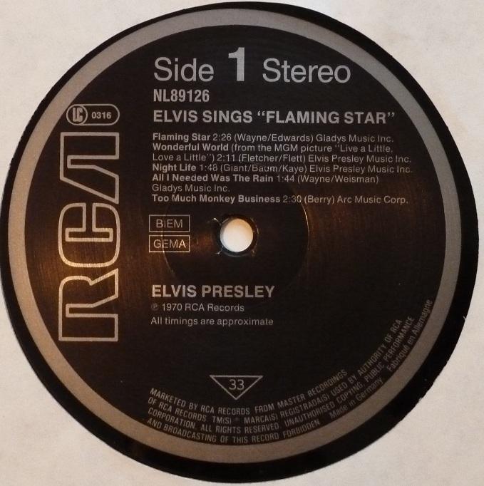 ELVIS sings FLAMING STAR Flamingstar84label11xx0n
