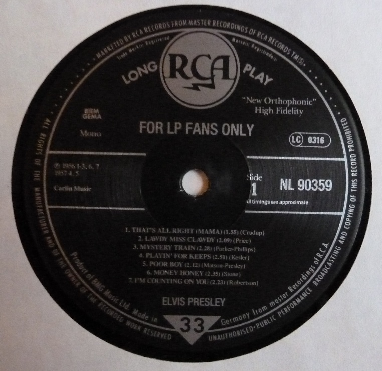 FOR LP FANS ONLY Flpfanso89side1p0dqx