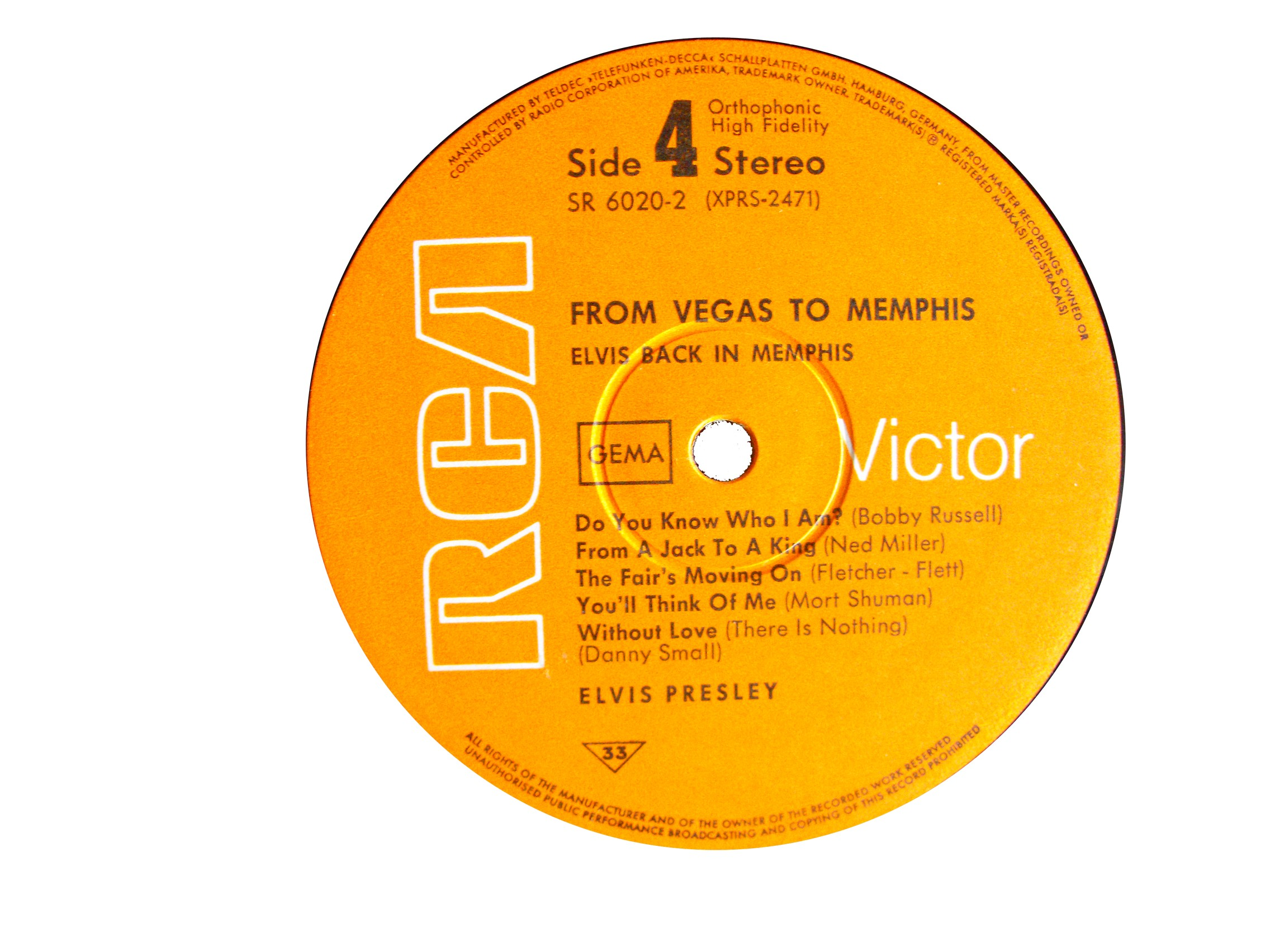 FROM MEMPHIS TO VEGAS / FROM VEGAS TO MEMPHIS Fmtv69label4cqub4