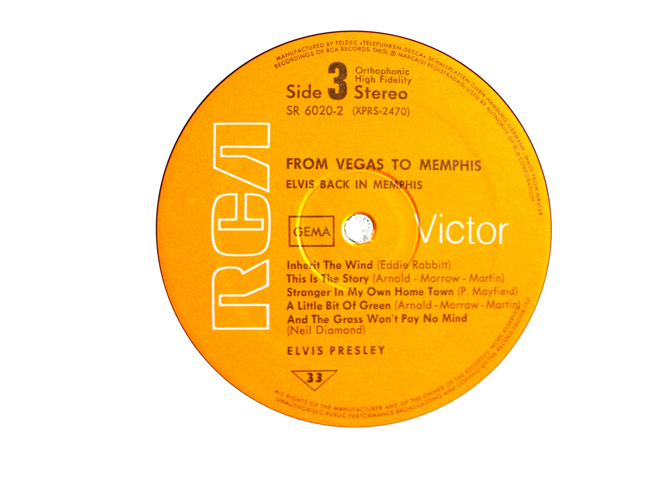FROM MEMPHIS TO VEGAS / FROM VEGAS TO MEMPHIS Fmtv70label36uu8v