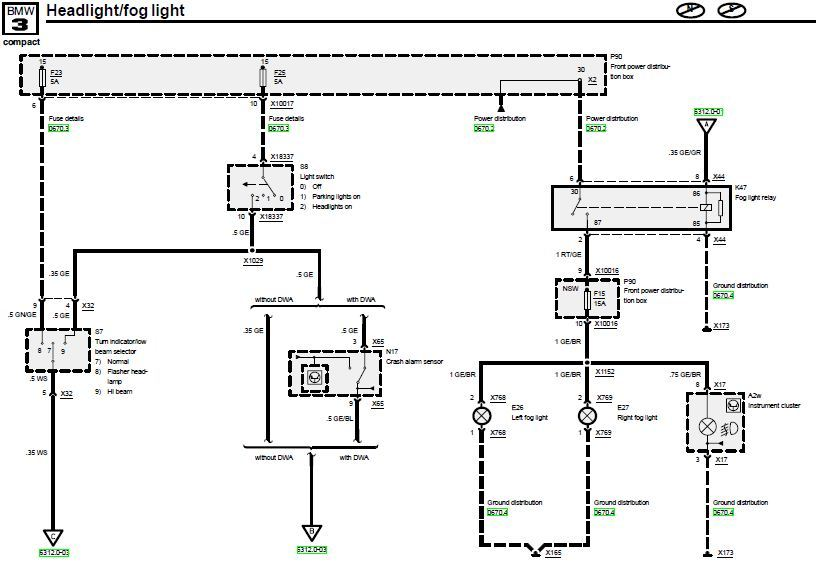 Pinnbelegung Lichtschalter Compact [ 3er BMW - E36 Forum ]
