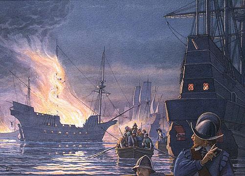 goldschiff vor küste spanien