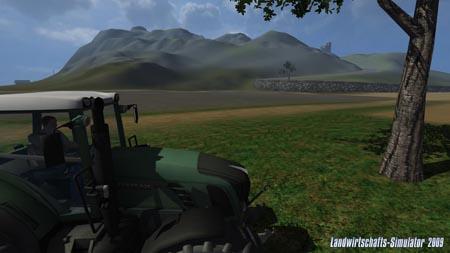 The same scene in Farming Simulator 2009