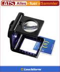 Leuchtturm Fadenzähler LED 5 fach Lupe cm/inch Skala
