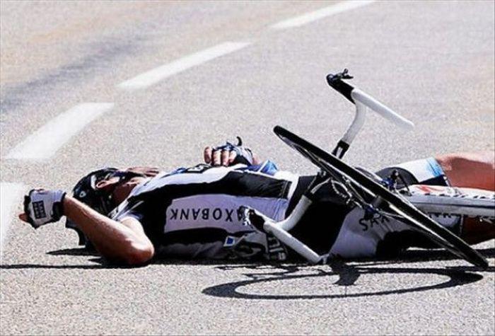 Wypadki kolarzy 9
