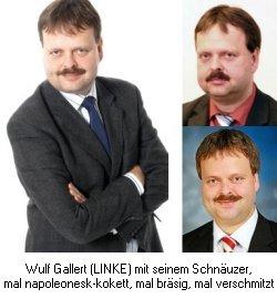 Wulf Galler (LINKE): Der kokett- bräsige-verschmitzte Schnäuzer