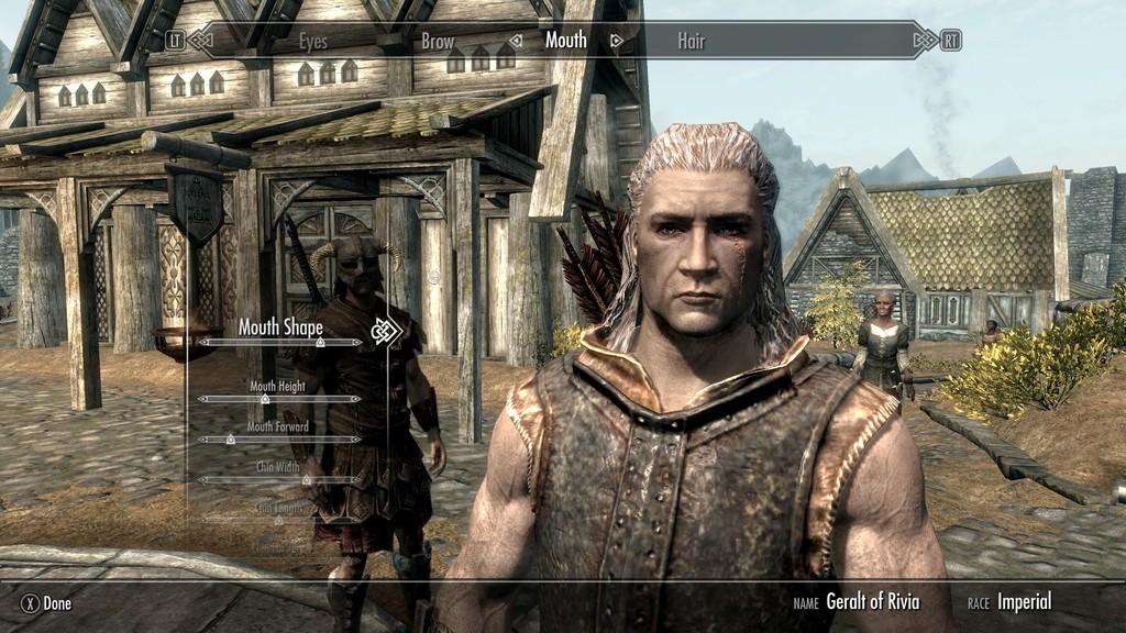 Geralt in Skyrim