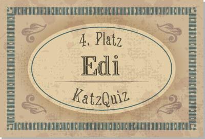 4. Platz KatzQuiz: Edi