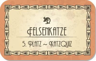 5. Platz KatzQuiz: Felsenkatze