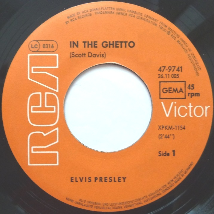 In The Ghetto /Any Day Now Ghetto76side12x7c8