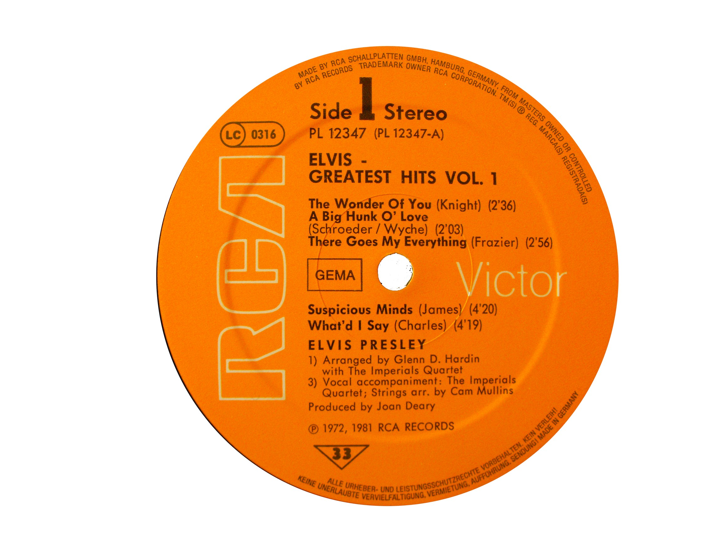 GREATEST HITS VOL. 1 Ghlabel10bur4