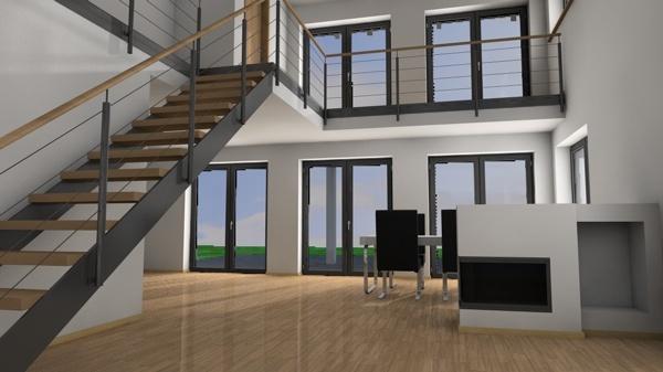 architektur rendering beleuchtung au en vs innen c4d professional. Black Bedroom Furniture Sets. Home Design Ideas