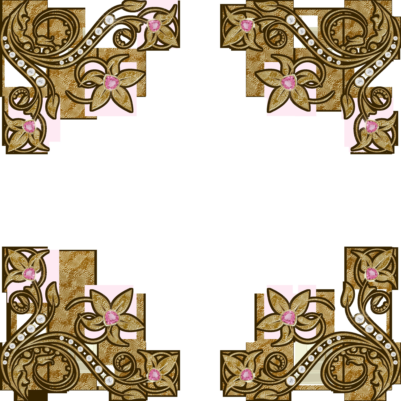 Marcos y bordes dorados vectores png - Imagui