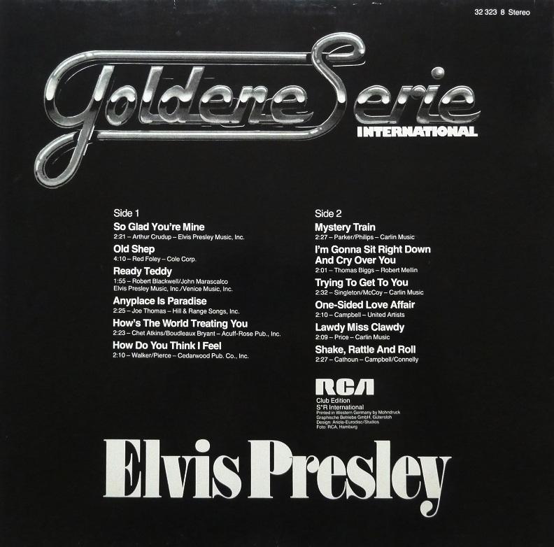 GOLDENE SERIE – ELVIS PRESLEY Goldeneserierckseitexd7lt