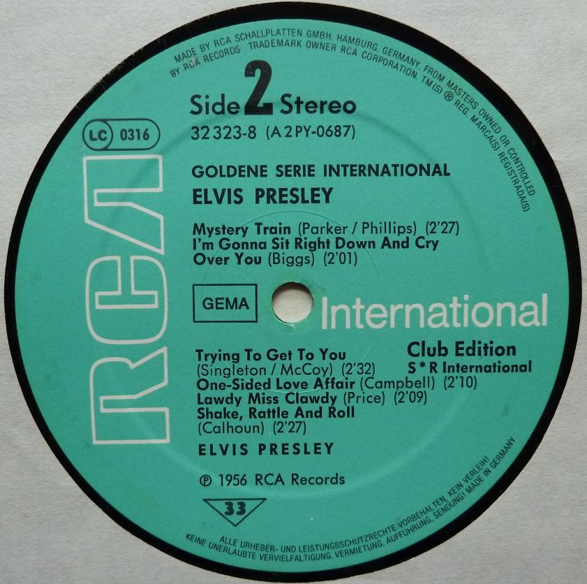 GOLDENE SERIE – ELVIS PRESLEY Goldeneserieside207ubz