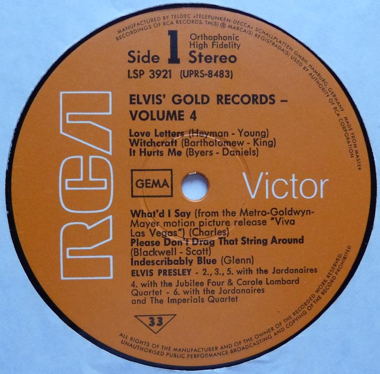 ELVIS' GOLDEN RECORDS VOL. 4 Goldrec470side1ymjod