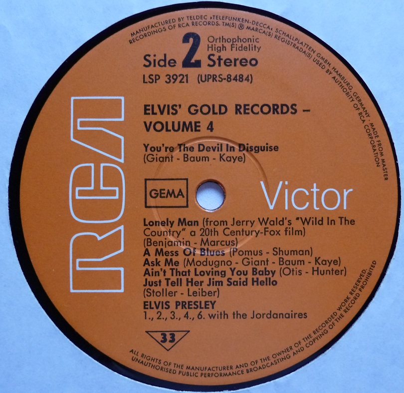 ELVIS' GOLDEN RECORDS VOL. 4 Goldrec470side2gajvv