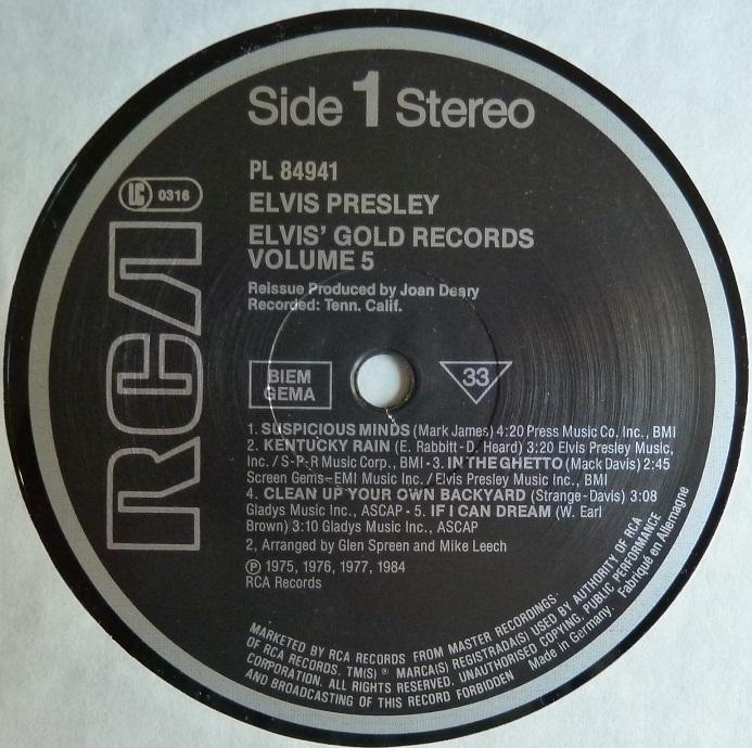 ELVIS' GOLD RECORDS VOL. 5 Goldrec5side1liujy
