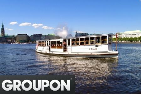 Groupon Hamburg: Alsterrundfahrt für 2 Personen mit dem Alsterdampfer St. Georg für 10€