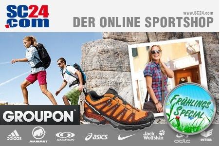 Groupon: 40€ oder 60€ Gutschein für SC24.com nur 14,99€ oder 24,99€ - Marken-Sportklamotten und Schuhe!