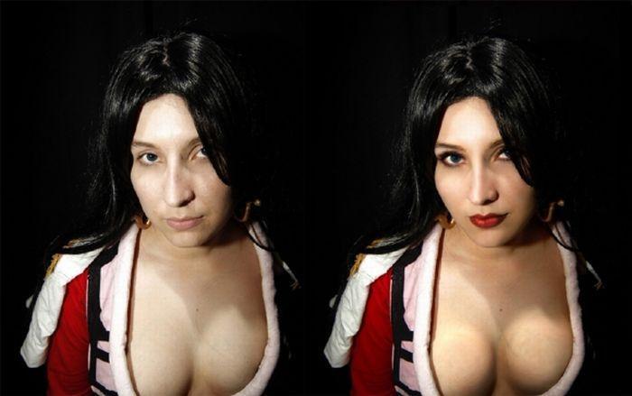 Cosplay: przed i po retuszu 16