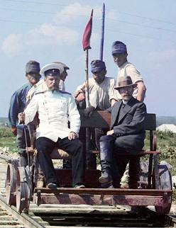 Handwagen Fahren in Russland