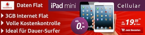 handytick ipad mini 0ziy4d Ipad Mini fr 0,00 Euro bei Handytick mit Vodafone Vertrag 