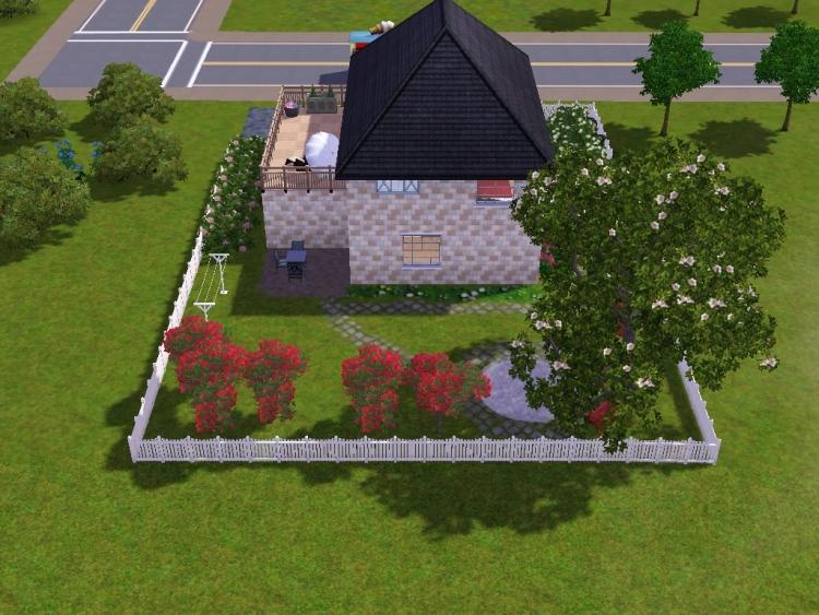 das gro e sims 3 forum von und f r fans vorstellung kleines haus mit garten. Black Bedroom Furniture Sets. Home Design Ideas