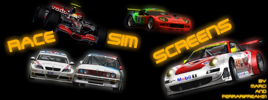 Race Sim Screens