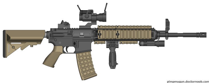 And finally, a MP 5 in 10mm for CQC: