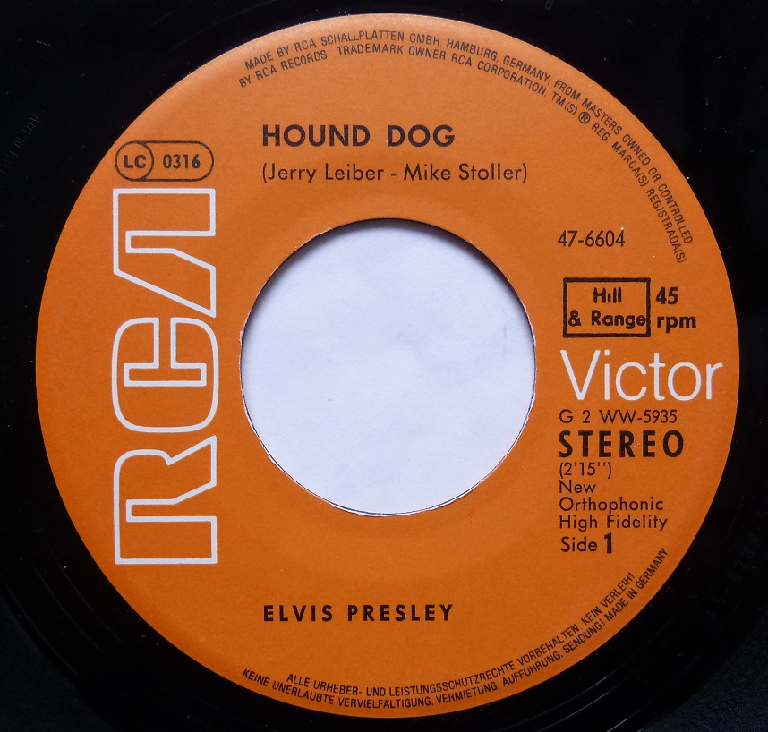 Hound Dog / Don't Be Cruel Hounddog78side18dknm