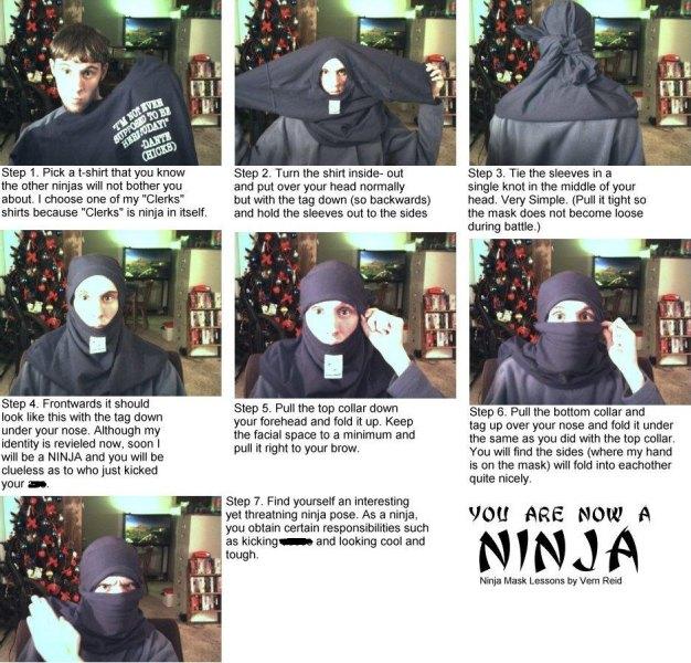 Ninja anzug selber nahen