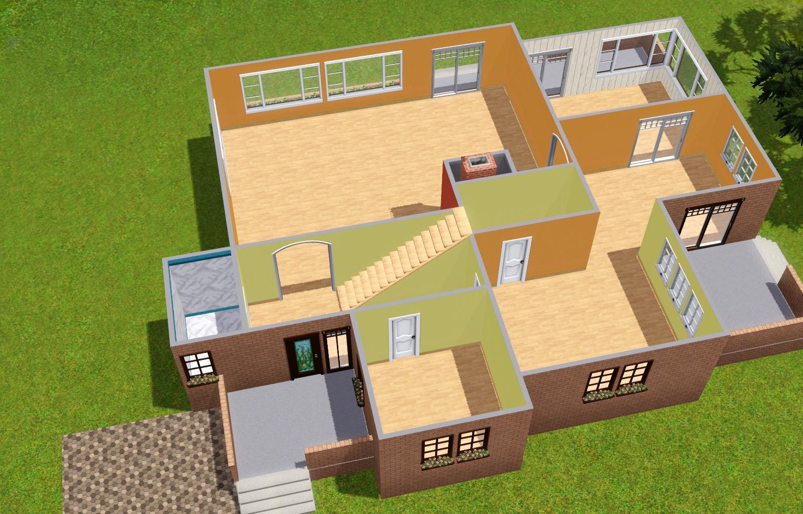 Sims 3 häuser von innen wohnzimmer  Vorstellung) Haus Ida - Das große Sims 3 Forum von und für Fans