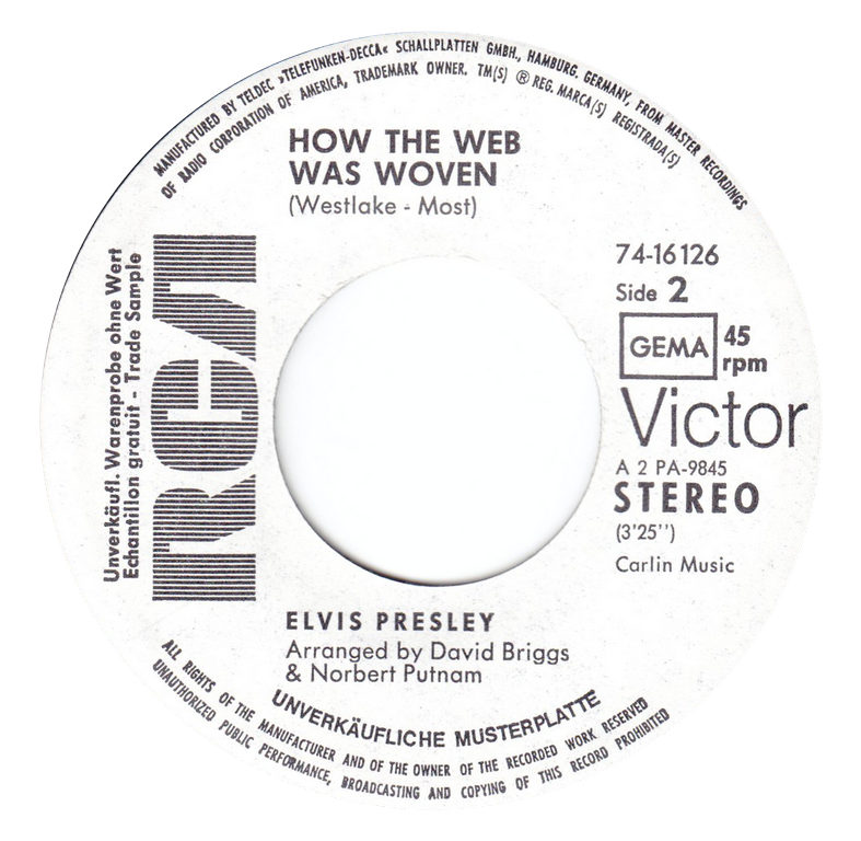 I Just Can´t Help Believin´ / How The Web Was Woven Ijchbside21l72u