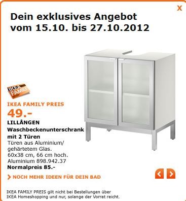 IKEA Family - Waschbeckenunterschrank und Leuchten reduziert ... | {Waschbeckenunterschrank ikea 69}
